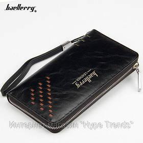 Мужской портмоне-клатч Baellerry W009. Black Edition. В Украине, в Одессе