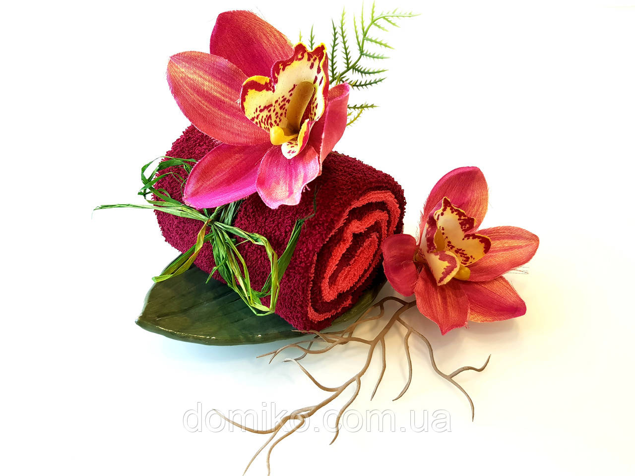 Набор из махровых полотенец Орхидея
