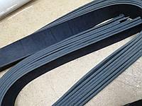 Кожаная  ременная полоса, цвет чёрный 3.5 см