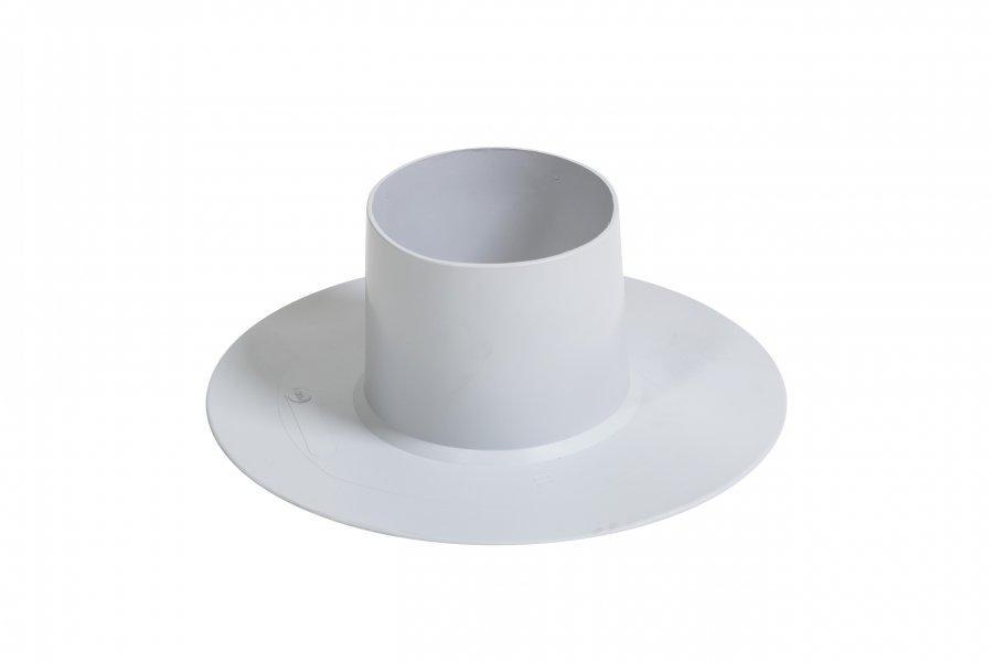 Цилиндрический воротник к трубе ПВХ Flagon диаметром 100 мм