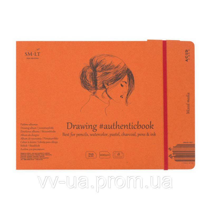 Альбом mixed media Smiltainis Authentic, A5, 200 г/м2, 18 лист., белый цвет