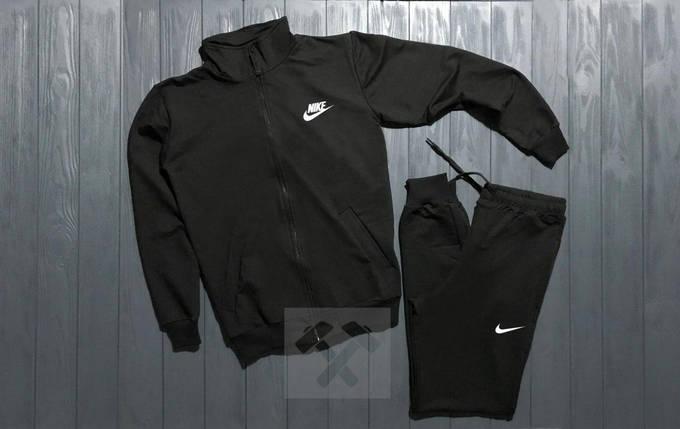 Спортивный костюм на молнии Nike черный топ реплика, фото 2
