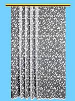 """Жаккардовый тюль """"Лиана"""" (белый), высота 300 см"""