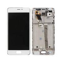 Дисплей (экран) для Meizu M3s (Y685)/M3s mini + тачскрин, белый, с передней панелью