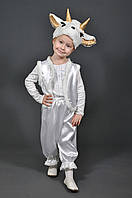 Детский карнавальный костюм КОЗОЧКА БЕЛАЯ на 5,6,7,8,9,10 лет новогодний маскарадный костюм КОЗА, КОЗОЧКИ