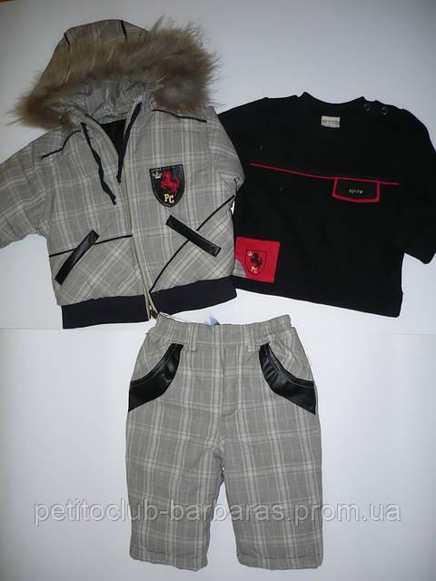 Демисезонный комплект  для мальчика Leather (Petito club, Турция)