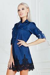 Платье с кружевным узором