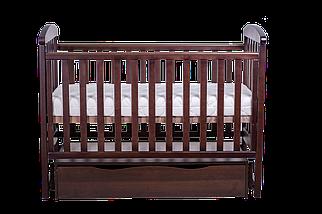 """Детская кроватка  Angelo Lux -7 """"тёмный орех"""", фото 2"""