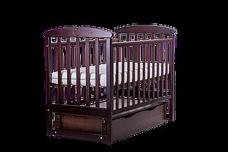 """Детская кроватка  Angelo Lux -7 """"тёмный орех"""", фото 3"""