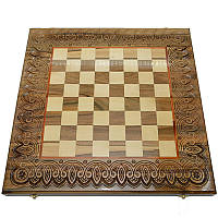 Резная шахматная доска. 50 х 50 см. Ручная работа, фото 1