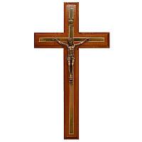 Резной крест 02,  черешня, медь