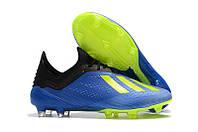 Бутсы Adidas X 18.1 FG Blue-Yellow