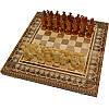 """Сувенирные шахматы + нарды+ шашки  """"Казаки"""" 50 х 50 см. Бисер + Медь"""