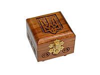 Шкатулка резная с гербом Украины 02, фото 1