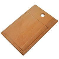 Доска разделочная, деревянная 34 х 22,5 см, фото 1
