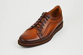 Рыжие мужские туфли Fabio 418