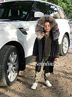 Парка с мехом на мальчика, фото 1