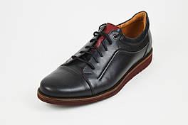 Черные мужские туфли Fabio 418