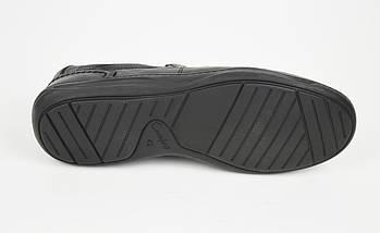 Туфли черные кожаные комфорт Fabio 952, фото 3