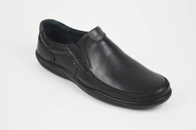 Туфли черные кожаные комфорт Fabio 952, фото 2