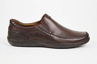 Туфли коричневые кожаные комфорт Fabio 952, фото 2