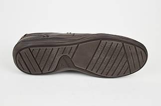 Туфли коричневые кожаные комфорт Fabio 952, фото 3
