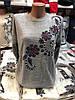 Жіноча кофта з принтом і намистинами в кольорах. Туреччина. Н-6-0918, фото 2