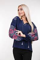 Блуза 63330 (т.синий)