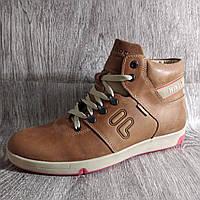 Мужские зимние мокасины, ботинки , светло коричневые , из натуральной кожи , фото 1