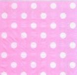 20 шт./упак. Салфетки Горошек розовые двухслойные