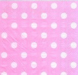 Салфетки бумажные Горошек розовые 20 шт./упак.
