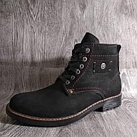 Зимние мужские ботинки, натуральная кожа , черные , фото 1