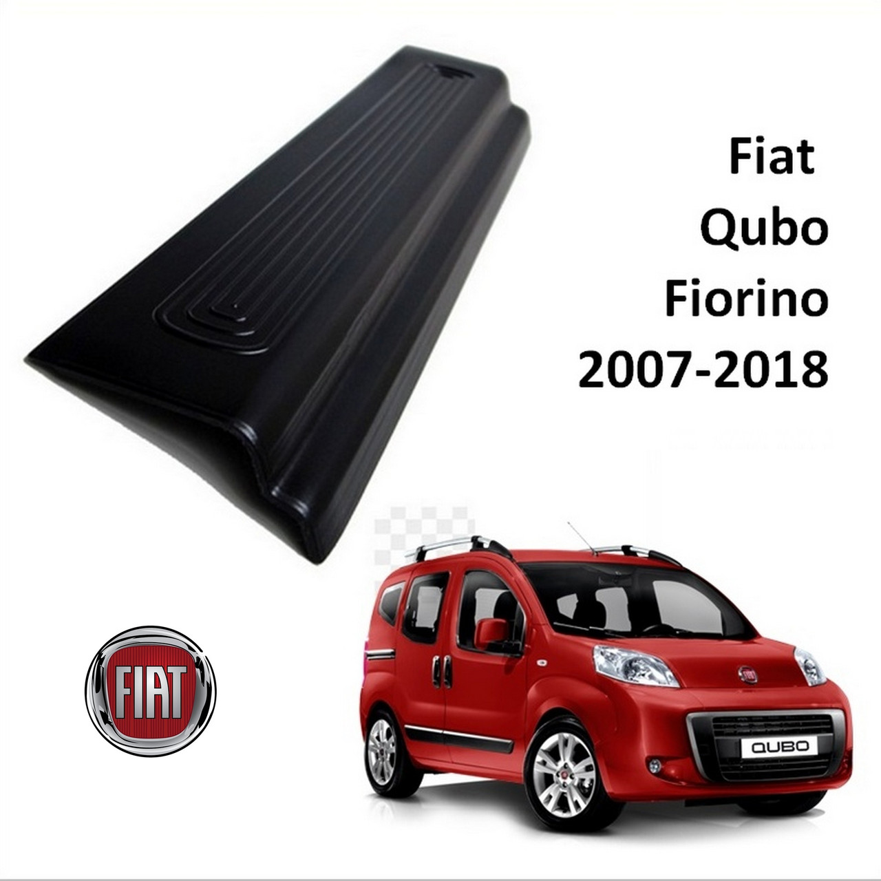 Fiat Fiorino / Qubo 2007-2018 накладки на пороги , фото 1