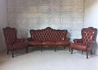 Комплекты кожаная мебель барокко, гризли, честерфилд