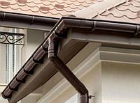 Труба водосточная 3м Fitt 125 (белый, коричневый, графит, красный), фото 1