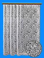 """Жаккардовый тюль """"Королевский жаккард"""" (белый), высота 250 см"""