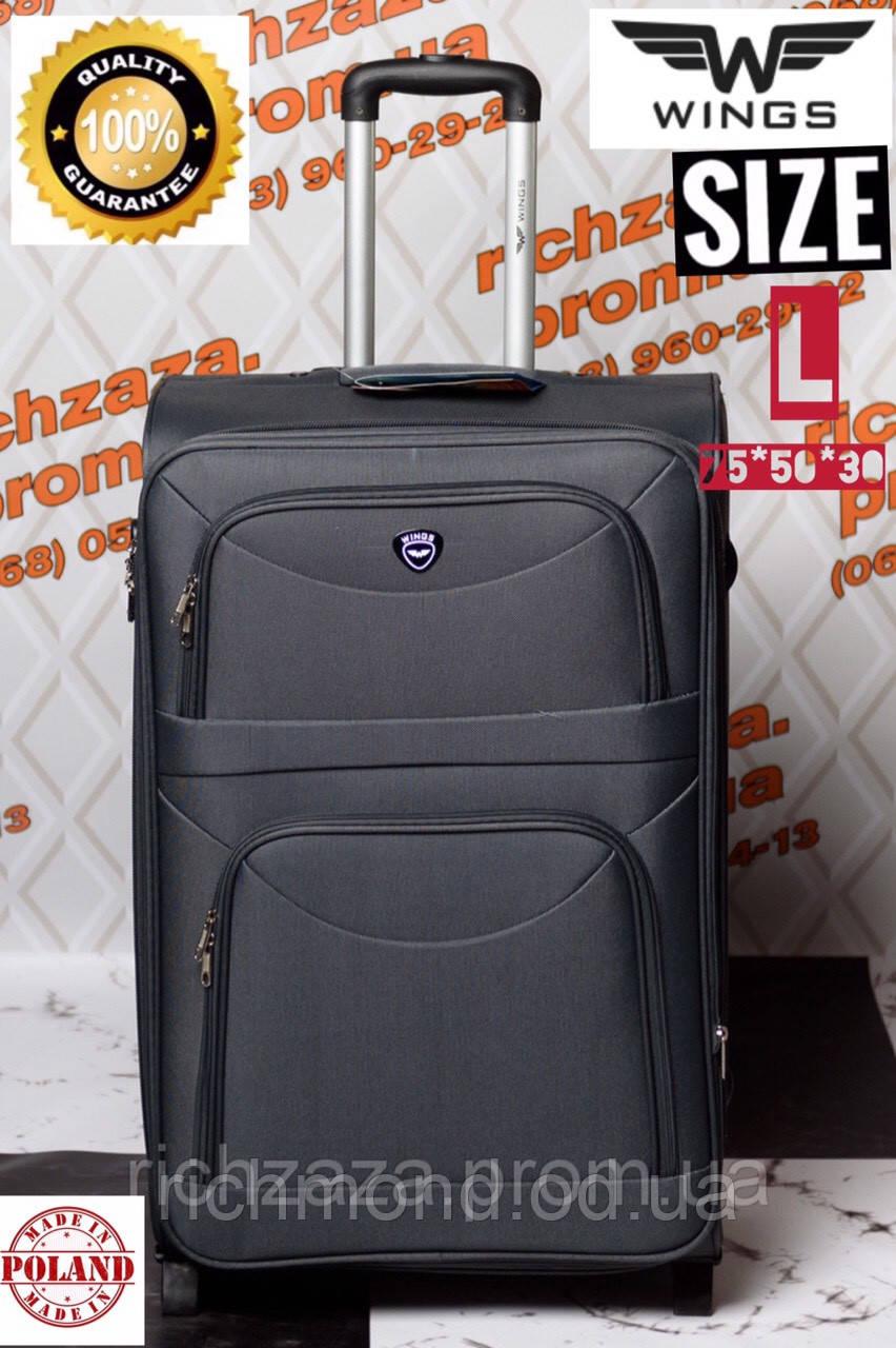 402a1cee9957 Большой дорожный чемодан серый чемодан на 2 колесах Wings Одесса Украина -  RiCHMOND в Одессе