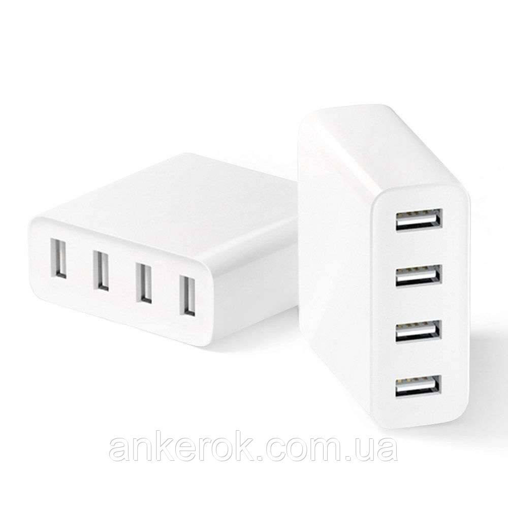Зарядное устройство Xiaomi Mi USB Multiple hub 4 USB (CDQ01ZM) (White)