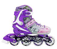 Роликовые коньки Nils Extreme NJ1812A Size 39-43 Purple, фото 1