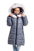 Зимние пальто для девочки интернет магазин 34-40 серый