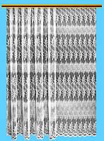 """Жаккардовый тюль """"Морозный завиток"""" (белый), высота 260 см"""