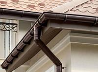 Желоб водосточный 130 3 м PROFiL (коричневый , белый), фото 1