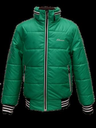 Детская демисезонная куртка БОМБЕР на мальчика, зеленая, р.34-44, фото 2