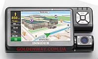 Автомобильный GPS навигатор с видеорегистратором (HD) INSIDER-T9