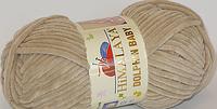 Плюшевая пряжа HIMALAYA DOLPHIN BABY №80317 Львов цвет беж