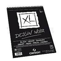 Альбом для графики Canson XL, 21x29,7, 150 г/м2, 40 лист., черный цвет, альбомн.форм.
