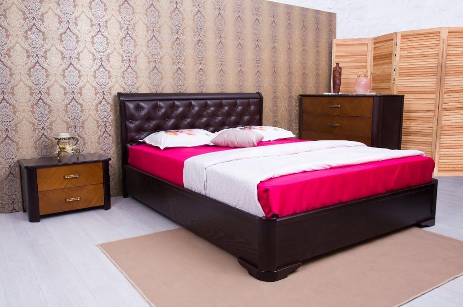 Ліжко Мілена з механізмом м'яка спинка ромби ТМ Олімп