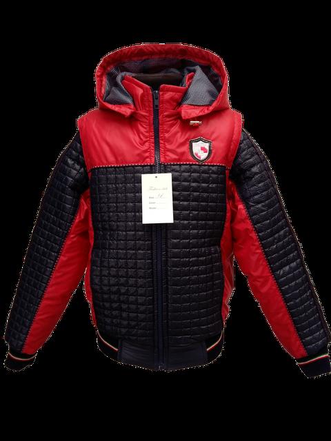 Детская демисезонная куртка-жилетка на мальчика красная, р.32-44