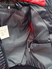 Детская демисезонная куртка-жилетка на мальчика красная, р.32-44, фото 3