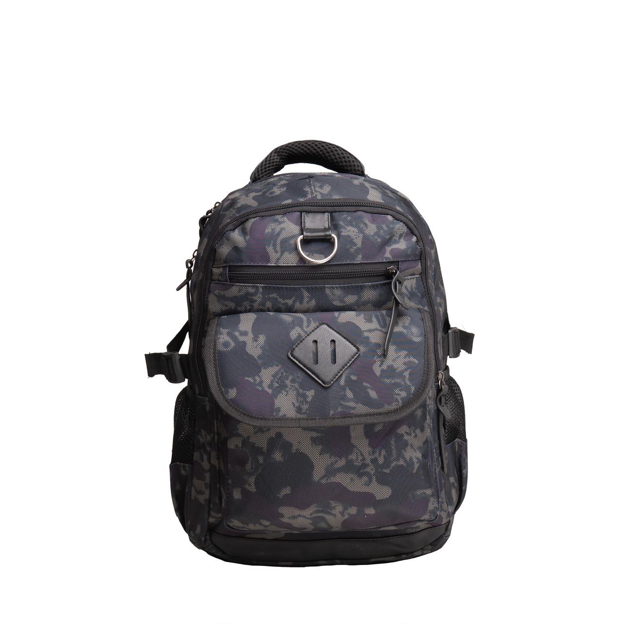 Рюкзак городской BagHouse 49х29х20 сине-серый ткань нейлон  кс3219син сер